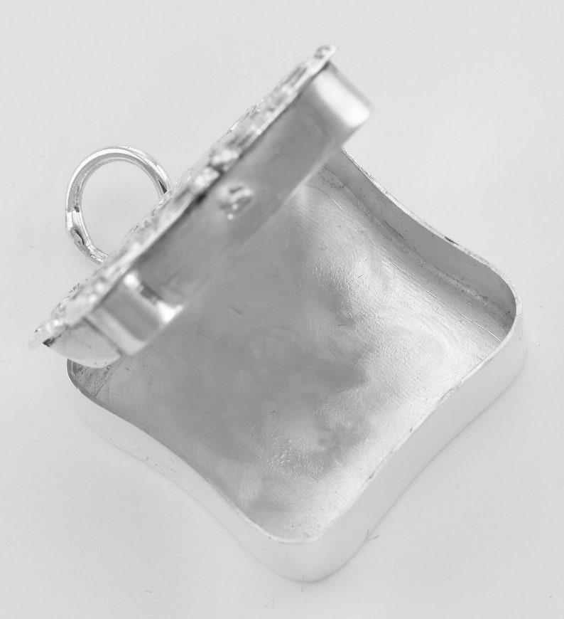 Sterling Silver Antique Style Angel Keepsake Pillbox