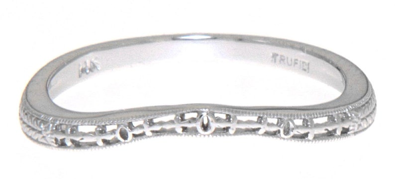 Matching Band for FR-1834 14kt White Gold Filigree Ring