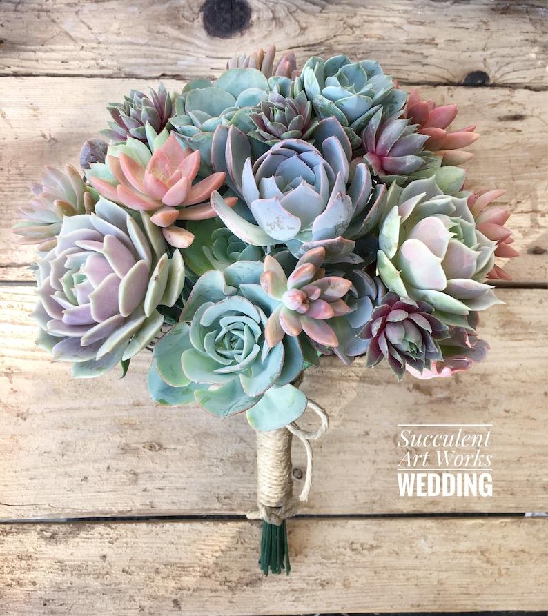 Succulent Wedding Bouquet Customized Wedding Bouquet Bridal image 0