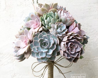 Succulent Wedding Bouquet, Customized Wedding Bouquet, Bridal Bouquet, Brides Bouquet, Wedding Succulents, wedding day Succulents