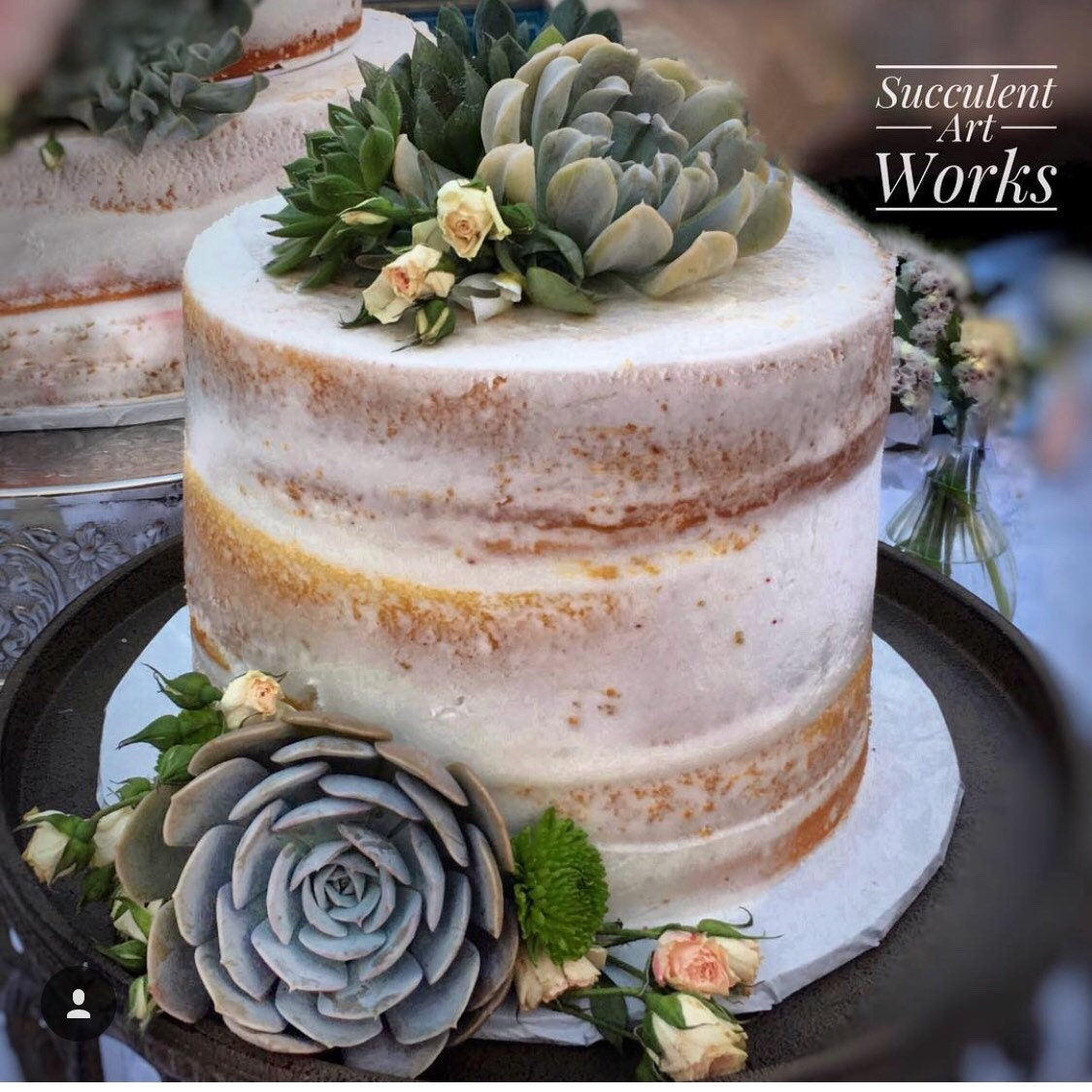 Succulent Wedding Cake Topper Wedding Cake Topper Floral Etsy