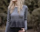 KNITTING PATTERN-The Torren Sweater (1/2, 3/4, 5/6, 7/8, 9/10, 11/13, x-s, s, m, m/l, l, x-l, xxl, 3xl, 4xl)