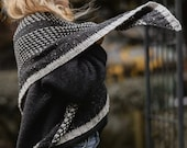 KNITTING PATTERN-The Moonstruck Wrap (one size)