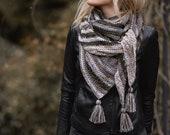 CROCHET PATTERN-Winter Dusk Shawl (one size)