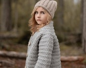 Crochet PATTERN-The Brumal Bomber (2/3, 4/5, 6/7, 8/9, 10/12, 14/16, S, M, L, X-L)