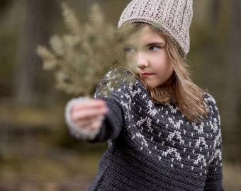 CROCHET PATTERN-The Wilde Sweater (2/3, 4/5, 6/7, 8/10, 11/13, x-s, s, s/m, m, m/l, l, x-l, xxl, 2xl-3xl)