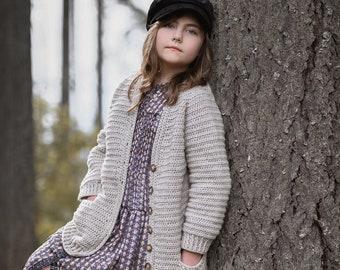 CROCHET PATTERN-The Rhythm Sweater (1/2, 3/4, 5/6, 7/8, 9/10, 11/13, x-small, small, medium, med/large, large, x-l, xx-l, 3x-l, 4x-l)