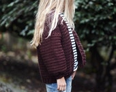 CROCHET PATTERN-The Cozy Woolen Bomber (2/3, 4/5, 6/7, 8/9, 10/12, 14/16, x-small, small, medium, large, x-large sizes)