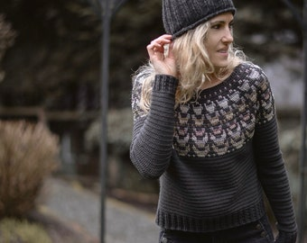 CROCHET PATTERN-The Quill Sweater (1/2, 3/4, 5/6, 7/8, 9/10, 11/13, x-s, s, s/m, m, m/l, l, x-l, xxl, 2xl-3xl)