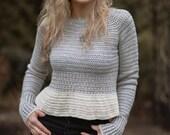 CROCHET PATTERN-The Dagen Sweater (1/2, 3/4, 5/6, 7/8, 9/10, 11/13, x-s, s, m, m/l, l, x-l, xxl, 3xl, 4xl)