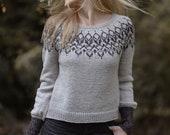 Knit Pattern-Bangle Sweater sizes {Child} 2/3, 4/5, 6/7, 8/9, 10/12, 14/16, {Adult } XS, S, S/M, M, L, XL, XXL