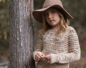 CROCHET PATTERN-The Prim Sweater (1/2, 3/4, 5/6, 7/8, 9/10, 11/13, 14/16, x-s, s, m, m/l, l, x-l, xxl, 3xl, 4xl)