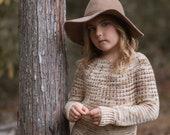 CROCHET PATTERN-The Prim Sweater (1/2, 3/4, 5/6, 7/8, 9/10, 11/13, 14/16, x-s, s, m, m/l, l, x-l, xxl, 3xl, 4xl)