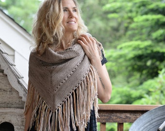 KNITTING PATTERN-Wishing Wings Shawl (small, large sizes)