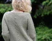 Crochet PATTERN-Byske Sweater sizes 1/2, 3/4, 5/6, 7/8, 9/10, 11/13, xsm, sm, med, med/large, large, xlarge, xxlarge, 3xlarge, 4xlarge