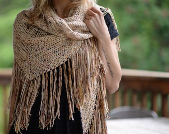 CROCHET PATTERN-For Keeps Shawl (small, large sizes)