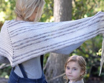 CROCHET PATTERN-The Color Play Shawl (small and large sizes)
