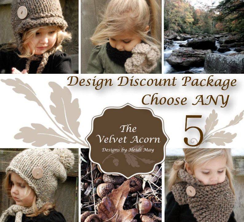 Design Discount Pattern Package CHOOSE ANY 5 photo