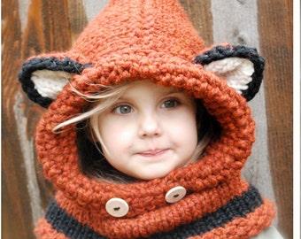 KNITTING PATTERN - Failynn Fox Cowl (12/18 months - Toddler - Child - Adult sizes)