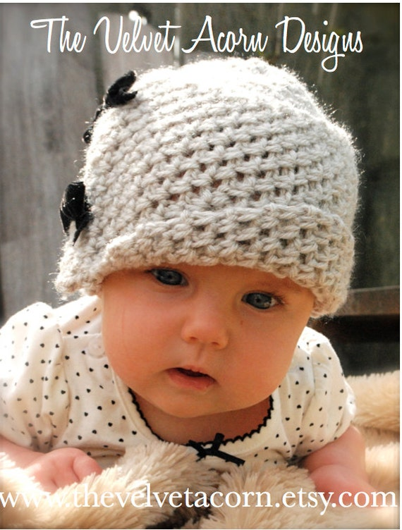 Crochet Pattern The Baby Lydia Cloche 03 36 612 Month Etsy