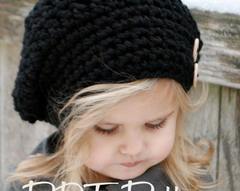 CROCHET PATTERN-Zoie Slouchy (pattern includes sizes for: toddler, child, and adult)