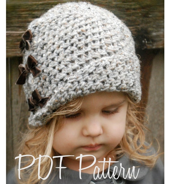 Crochet Pattern The Paiyton Cloche Toddler Child And Etsy
