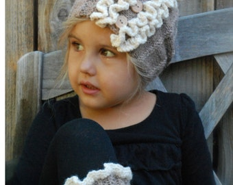 Knitting PATTERN-The Flynn Boot cuff/Warmer Set (Toddler, Child, Adult sizes)