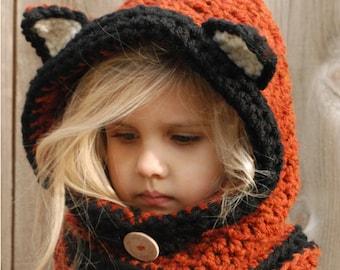 CROCHET PATTERN-Flint Fox Cowl (12/18 months, Toddler, Child, Adult sizes)