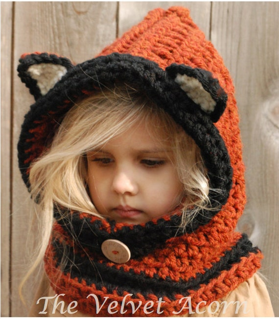 Crochet Pattern Flint Fox Cowl 1218 Months Toddler Child Etsy
