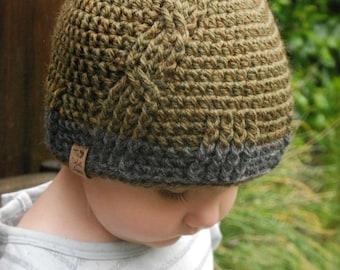 CROCHET PATTERN-Oliver Hat (Toddler, Child, Adult sizes)