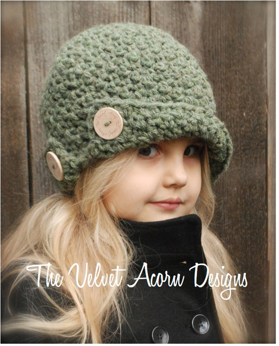 Crochet Pattern The Bristle Cloche Toddler Child And Etsy