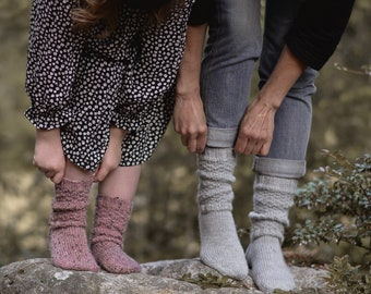 KNITTING PATTERN-Forest Stories Socks (Child {small, medium, large}) (Adult {small, medium, large})