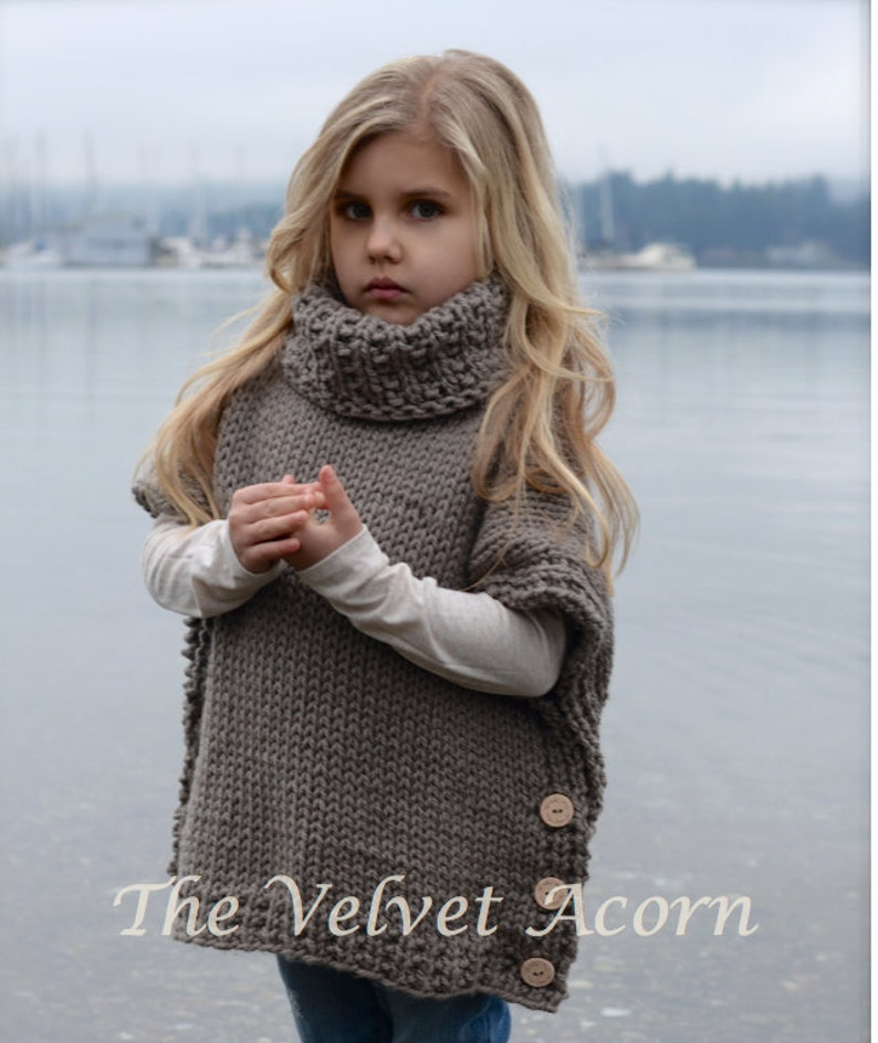 Knitting Pattern - Azel Pullover (2, 3/4, 5/7, 8/10, 11/13, 14/16, adult S/M, adult L/XL sizes) photo