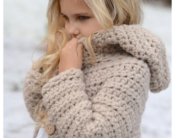 CROCHET PATTERN-The Veilynn Sweater (2, 3/4, 5/7, 8/10, 11/13, 14/16, S/M, L/XL sizes)