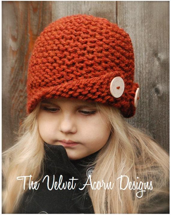 Rockford Cloche Knitting Pattern Toddler Child Adult Etsy