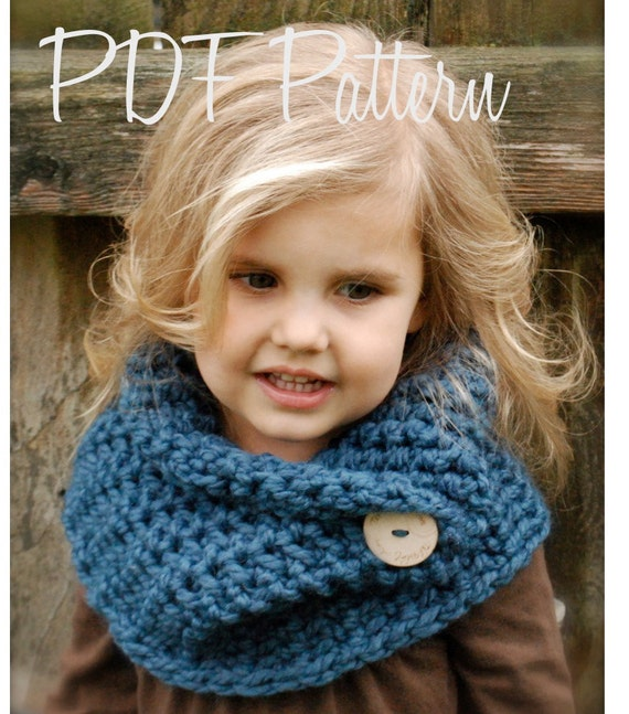 Crochet Pattern The Tuscyn Cowl Toddler Child Adult Sizes Etsy