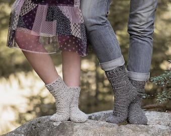 CROCHET PATTERN-Woodland Tales Socks (Child {small, medium, large}) (Adult {small, medium, large})