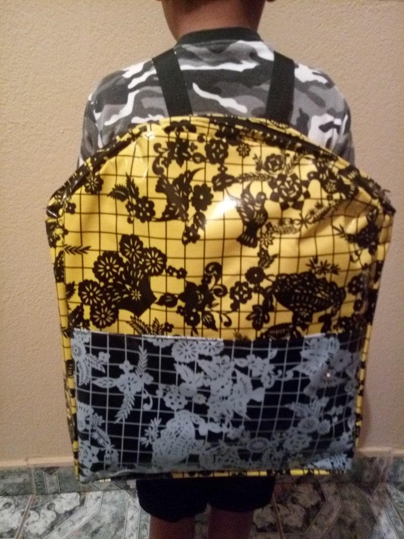 Large yellow blackwhite backpack