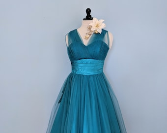 bd6f3f6114e Vintage 50s Fred Perlberg Tulle Prom Dress