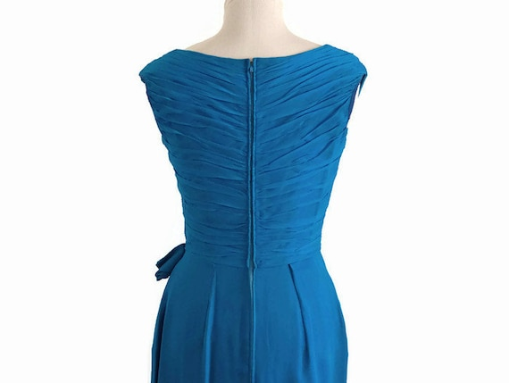Vintage 50s Draped Hourglass Dress, 50s cocktail … - image 3