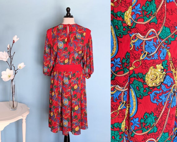 Vintage 1980s Diane Fres Designer Dress, Vintage 8