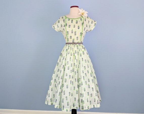 Vintage 50s Cotton Sundress, Vintage 1950s Novelty