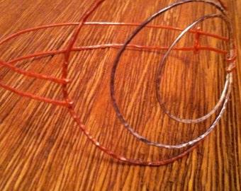 Delicate copper and silver bracelet