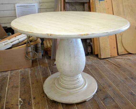 42 Inch Round Pedestal Table Huge Tear Drop Pedestal Solid Etsy