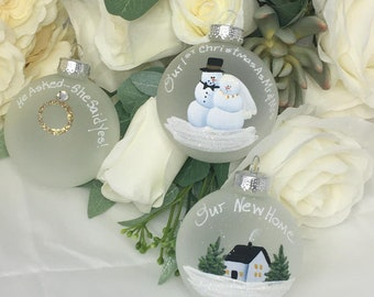 Unique Wedding Set Treasure Tree Ornament Personalized Gift for the Bride and Groom