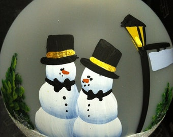 Same sex marriage couple present for gay wedding ornament as Mr and Mr.  Gay men married couple