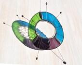 Nova suncatcher,Star suncatcher,Glass suncatcher,Glass art,Stained glass mobile,Astronomy gift,Home decor gift,Starburst,Positive vibes