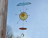 Suncatcher,Sun suncatcher,Stained glass suncatcher,Glass art, Outdoor and Gardening,Baby mobile,kids room decor-En Bleu et Verre