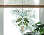 Stained glass Flower,Blue Flower Suncatcher,Glass plant,Cactus decor,Succulent decor,Mother 39 s day gift,Garden gift,Spring decor,Art mobile