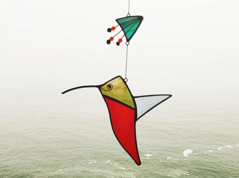 Hummingbird suncatcherSuncatcherStained glass image 0